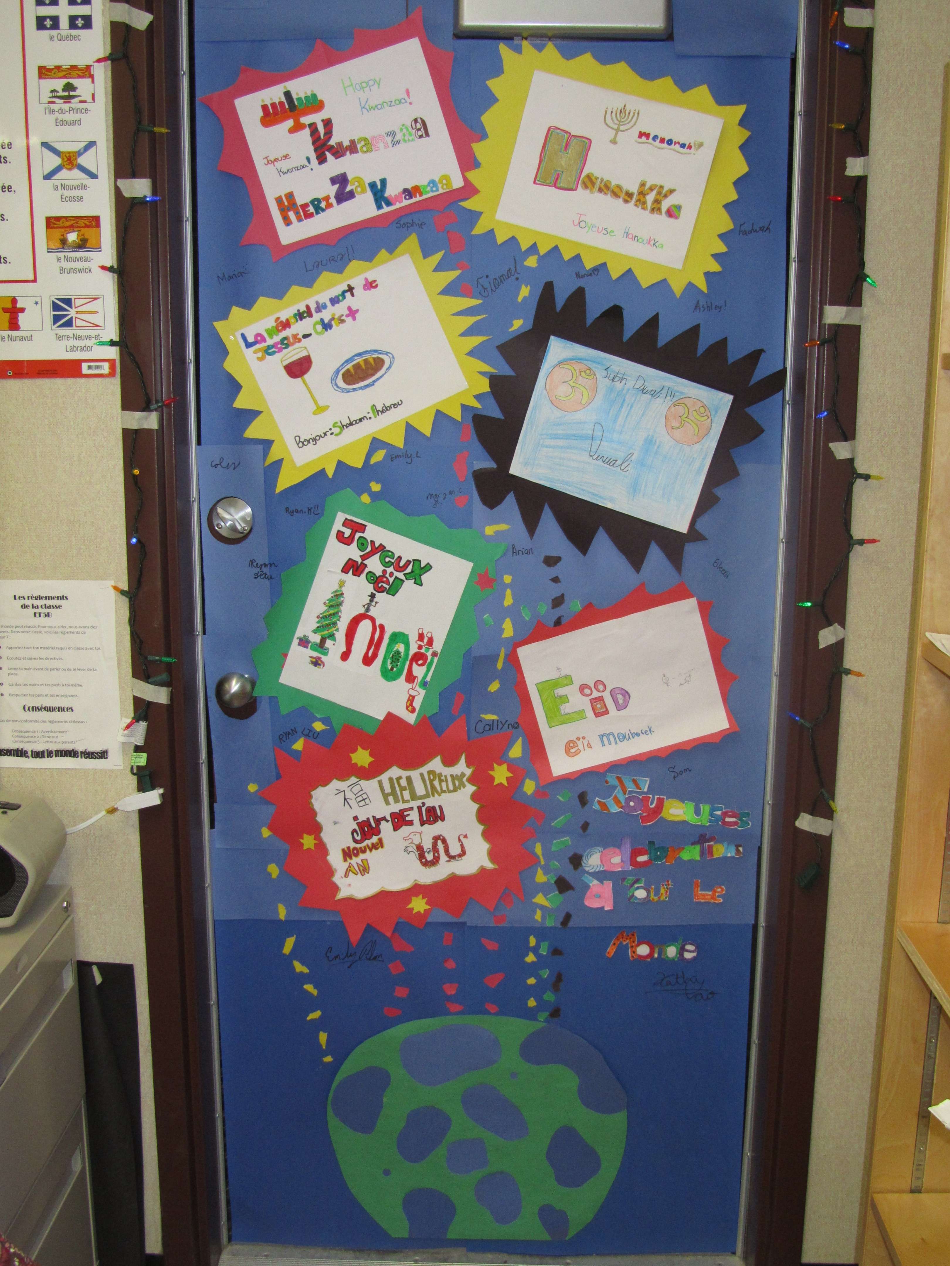 Le blog de Monsieur T - Our Christmas and Holiday Door Decoration ...